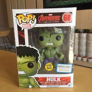 "Funko pop ""Glow in the Dark"" - Avengers Hulk"