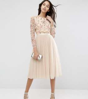 Needle & Thread pink dress gown
