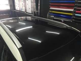 Ssangyyong tivoli roof glossy black wrap