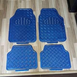 Metalic Blue Car Mat