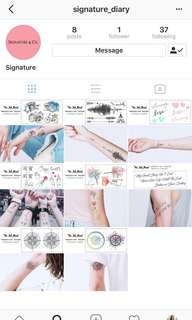 Temporary tattoo - giveaway $5 off