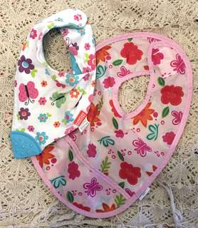 Charity Sale! Set of 2 baby bibs Nuby and kushies