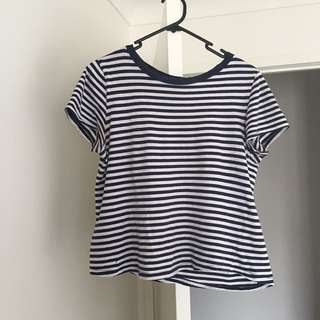 Zara Blue Striped T-shirt