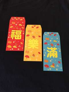 7-11 red packets 6 pcs per set