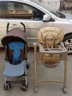 MacLaren Quest Stroller and Graco High Chair