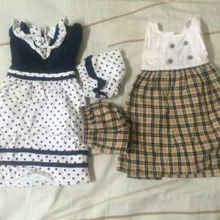 4 pc baby kiko dress