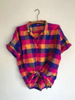 Coolest multicoloured silk shirt