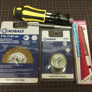 KOBALT 六尾金屬刷頭加NT 介刀及羅絲批共4件