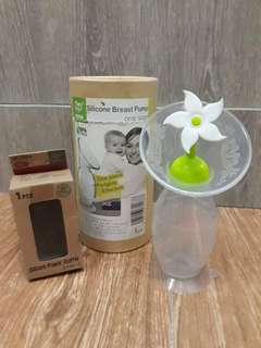 One-Size Silicone Manual Breast Pump with Flower Stopper