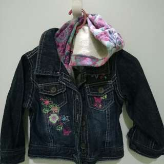 H&M Kid (Girl)  Denim Jacket with hoodie