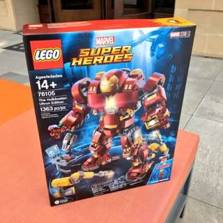 (100%新) 76105 The Hulkbuster LEGO Iron Man Marvel 反浩克鋼鐵人 Avengers 復仇者聯盟 Infinity War 無限之戰