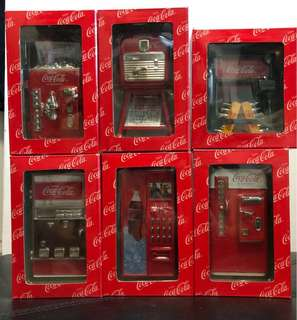 絕版中古-可口可樂經典汽水機 Coca Cola  1套6款連配件五盒 2001年出品