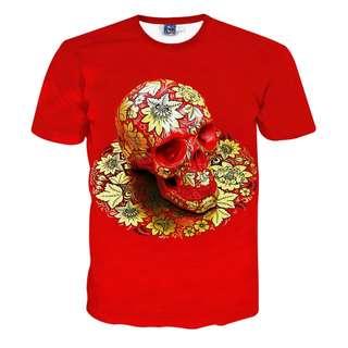 3D 效果 骷顱頭  短袖T恤 Tee