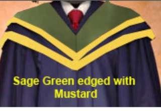 NTU SSM (Sport Science Management) Graduation Gown SIZE M