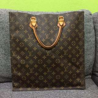 AUTHENTIC LV Monogram Sac Plat Tote Bag