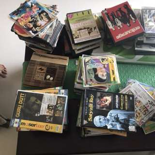 Assorted Indian VCDs/DVDs (Malayalam/Hindi/English/Japanese)