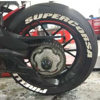 Free Install - Tyre Letters