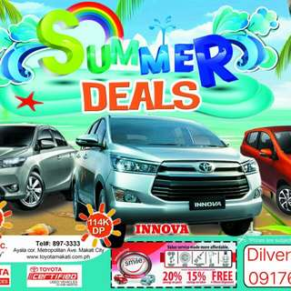 Toyota Makati Summer Deals