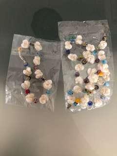Shell necklace and bracelet set