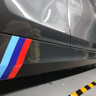 BMW skirt stripe