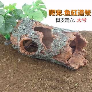 Large Tree Trunk Decor for Reptile or Aquarium Fish Tank