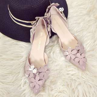 Ladies Korean Style Flowers 3cm 👠 High Heels