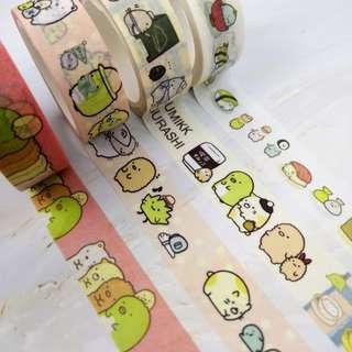 角落生物 MT 紙膠帶 分裝 Sumikko Gurashi Washi Tape Samples