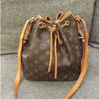 AUTHENTIC LV Petit Noé Monogram Canvas