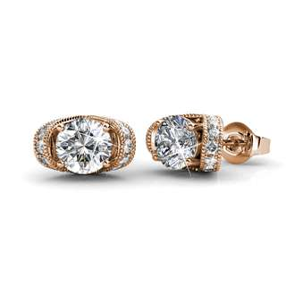 Swarovski® Crystals - Earrings Eve (Rose Gold Plated)