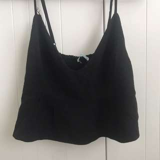 Black crop top kookai