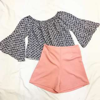 Women's Top and High waist shorts
