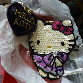Che Che New York  x Hello kitty 珠片匙扣吊飾