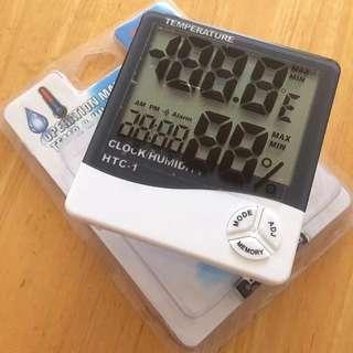 電子時鐘【有溫濕度計】電子鬧鐘 時計 - 非黑白淡奶司機靚太RAIN Alarm Timer