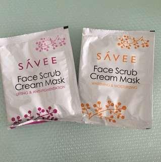 Face scrub cream mask