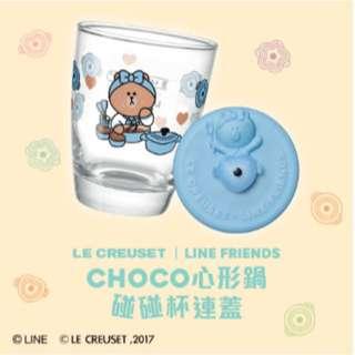 7-11 好friend碰碰杯-#3粉藍CHOCO心形鍋