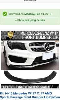 Mercedes CLA Front bumper lip