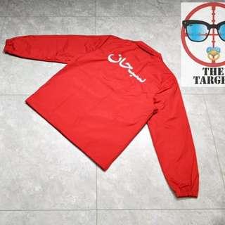 Supreme Arabic Logo Coaches Jacket  S  M  L 20180304 麻