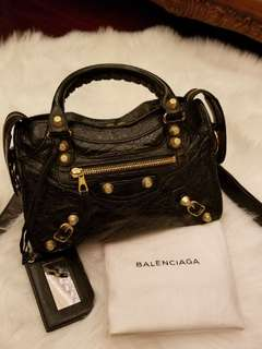 Balenciaga mini city 黑金