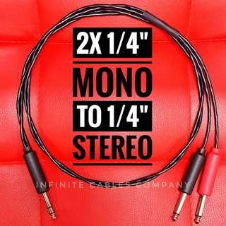 "1-METER - 2X MONO to 1 STEREO (1/4"")"
