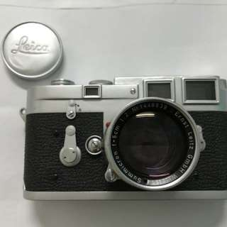 Leica M3 Double Stroke body and Summicron Rigid 50/2 lens