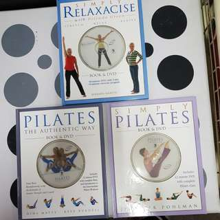 1) Pilates: The Authentic Way  2) Simply Pilates   3) Simply Relaxacise