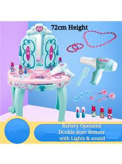 (Set M1) Dresser Table Make up Pretend Play Toys Set (battery operated)