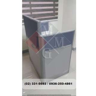 Reception Desk xx Full Fabric * Office Partition-