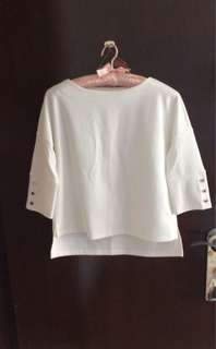 Women's Casual White Crop Top by IORA