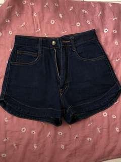 Celana hotpants jeans highwaist merk bcute