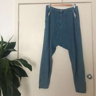 The fifth label drop crotch jeans