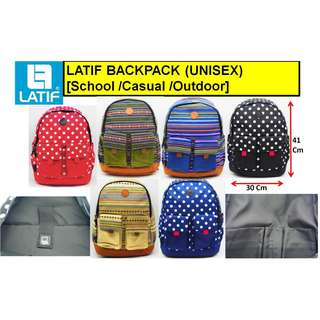 [INSTOCK] LATIF BACKPACK (UNISEX) SCHOOL / CASUAL / OUTDOOR / TRAVEL