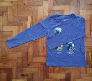 Blue Graphic Long Sleeves Shirt for Boys