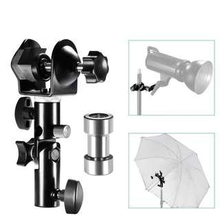 Pxel AALS6 U Clamp Clip Light Stand Bracket Umbrella Reflector Holder