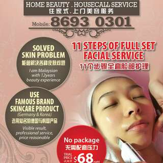 G-Beauty (Home beauty/housecall service)for female only